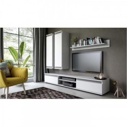Tempo Kondela Obývací stěna, bílá/šedá, REGIA