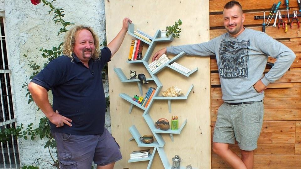 Knihovna jako strom: Jak si do bytu vyrobit originál z odřezků a zbytků