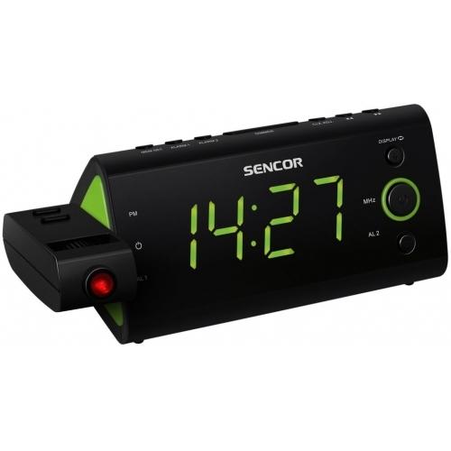 SENCOR SRC 330 GN Radiobudík s projekcí