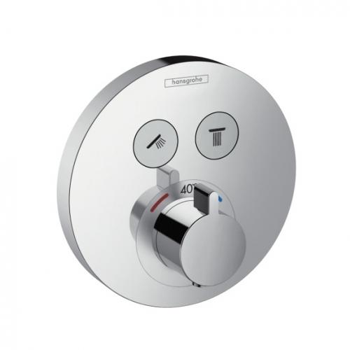 Hansgrohe Shower Select termostat pod omítku pro 2 spotřebiče, chrom