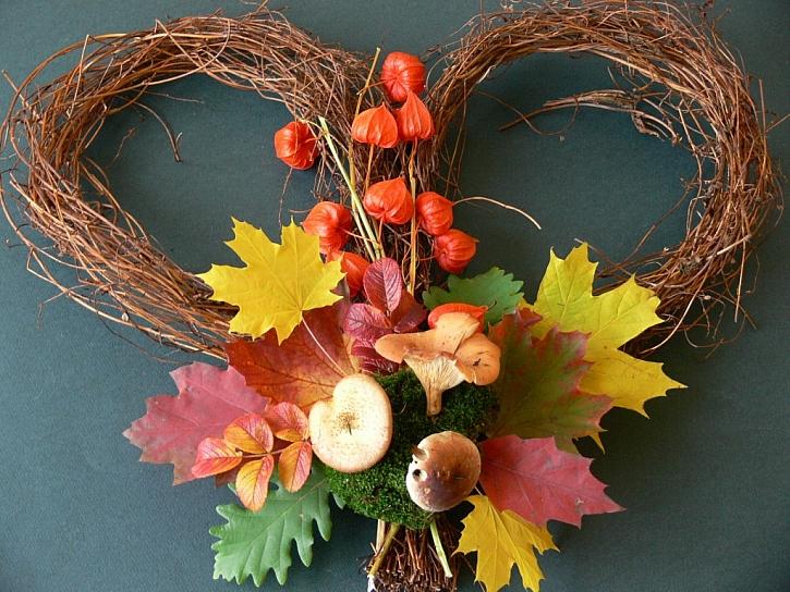 Podzimní srdíčko
