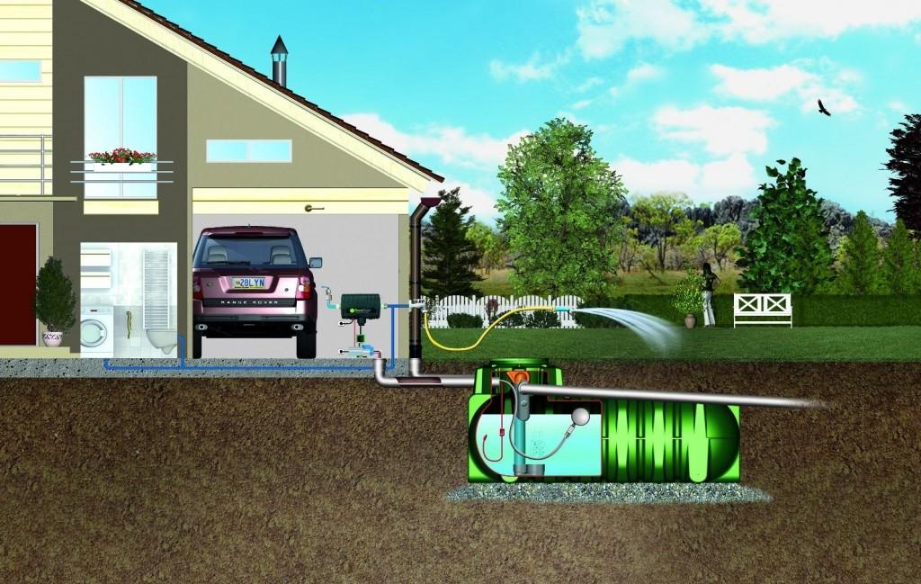 Využití dešťové vody II. - instalace nádrže