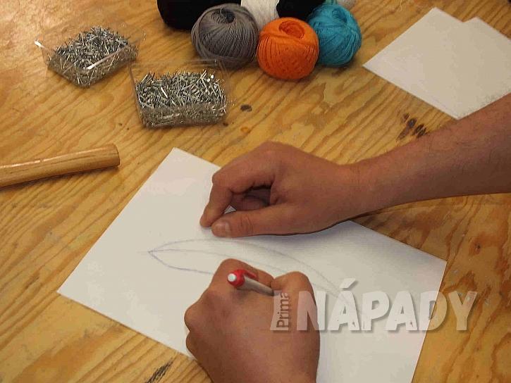 Předlohu lze namalovat ručně