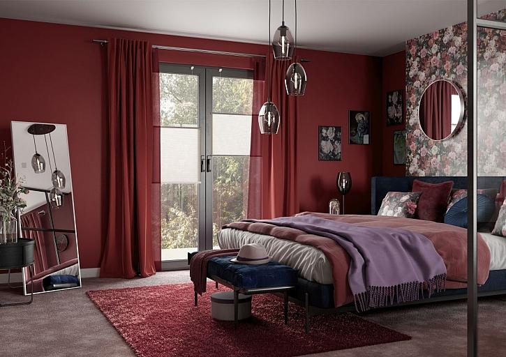 červený interiér