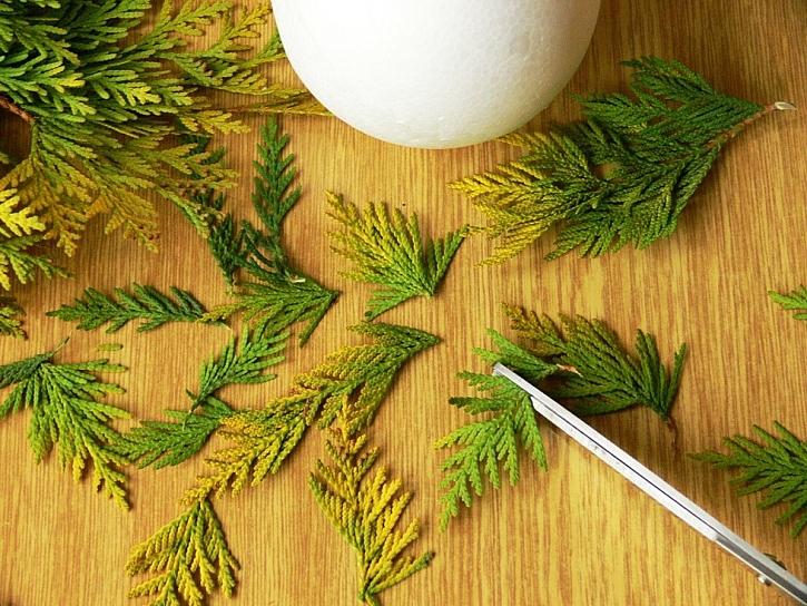 Návod na dekorační koule s přírodninami