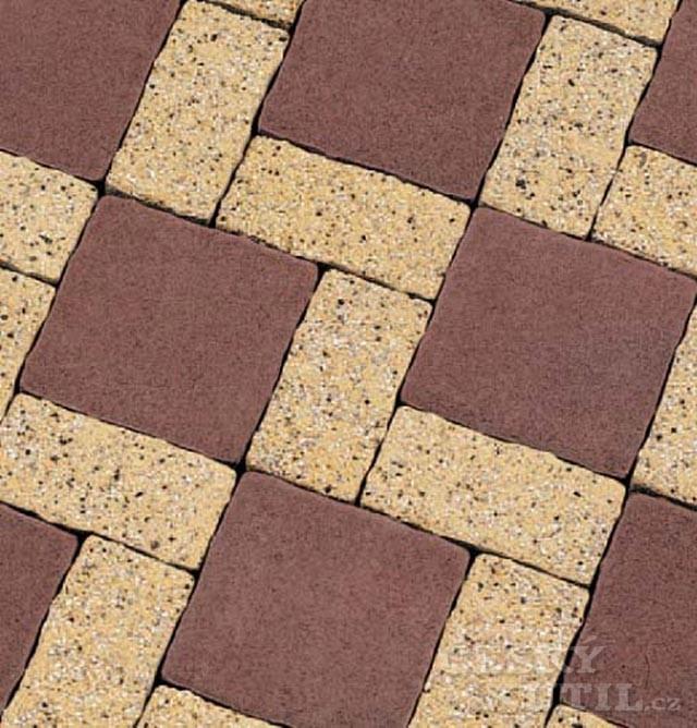 Barevné betonové dlaždice