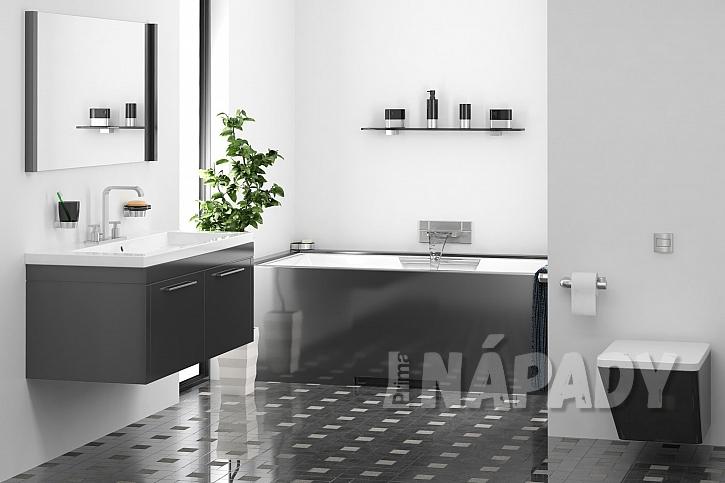 Moderní koupelna s vanou z quarylu