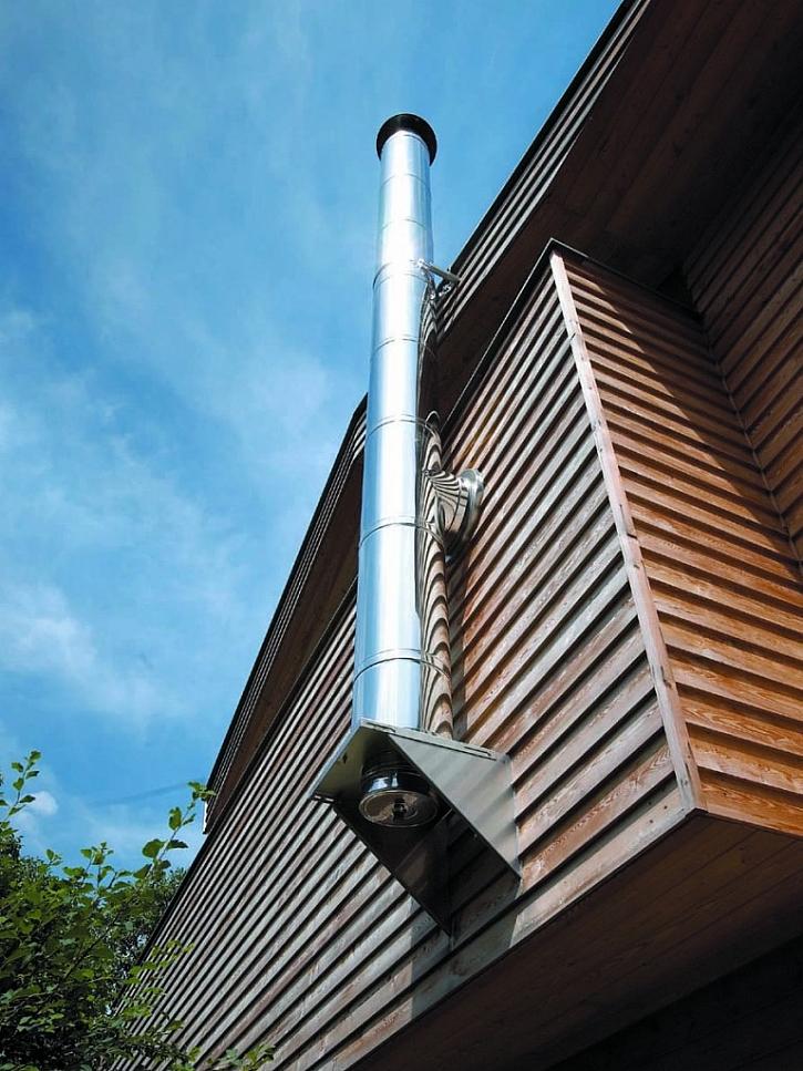Fasádní komín lze postavit i dodatečně