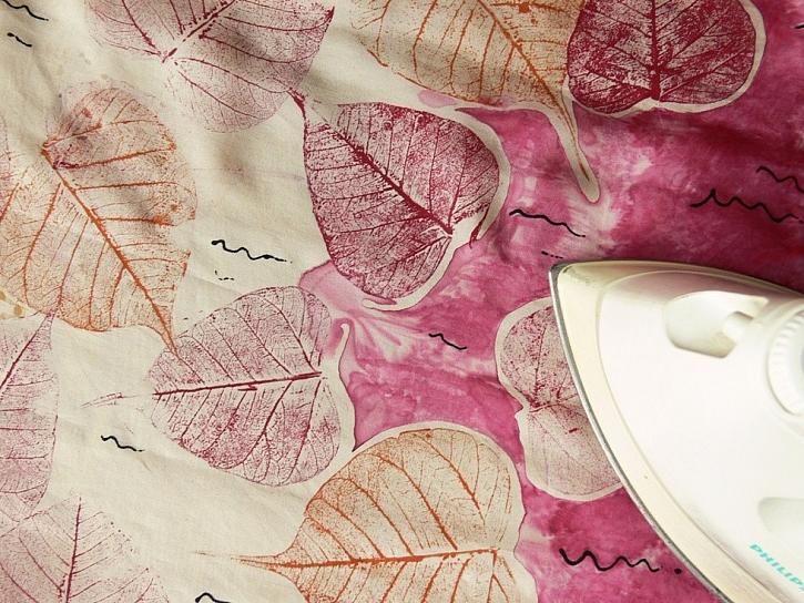Podzimní šátek - jak barvit hedvábí