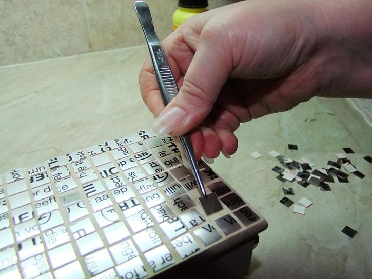 Mozaika ze zrcadlové folie – výroba