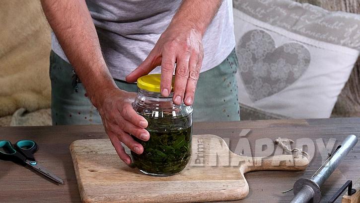 Domácí mátový olej:  sklenici vložíme do vodní lázně