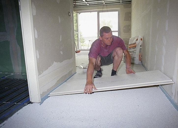Podlahy fermacell fungují jako optimální podklad pro další podlahoviny (foto: fermacell)