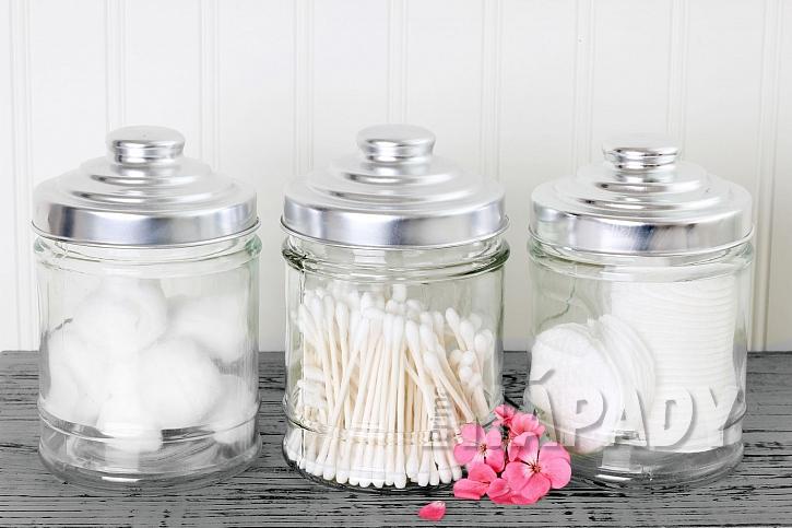 Dózy pro odličovací tampóny a vatové tyčinky