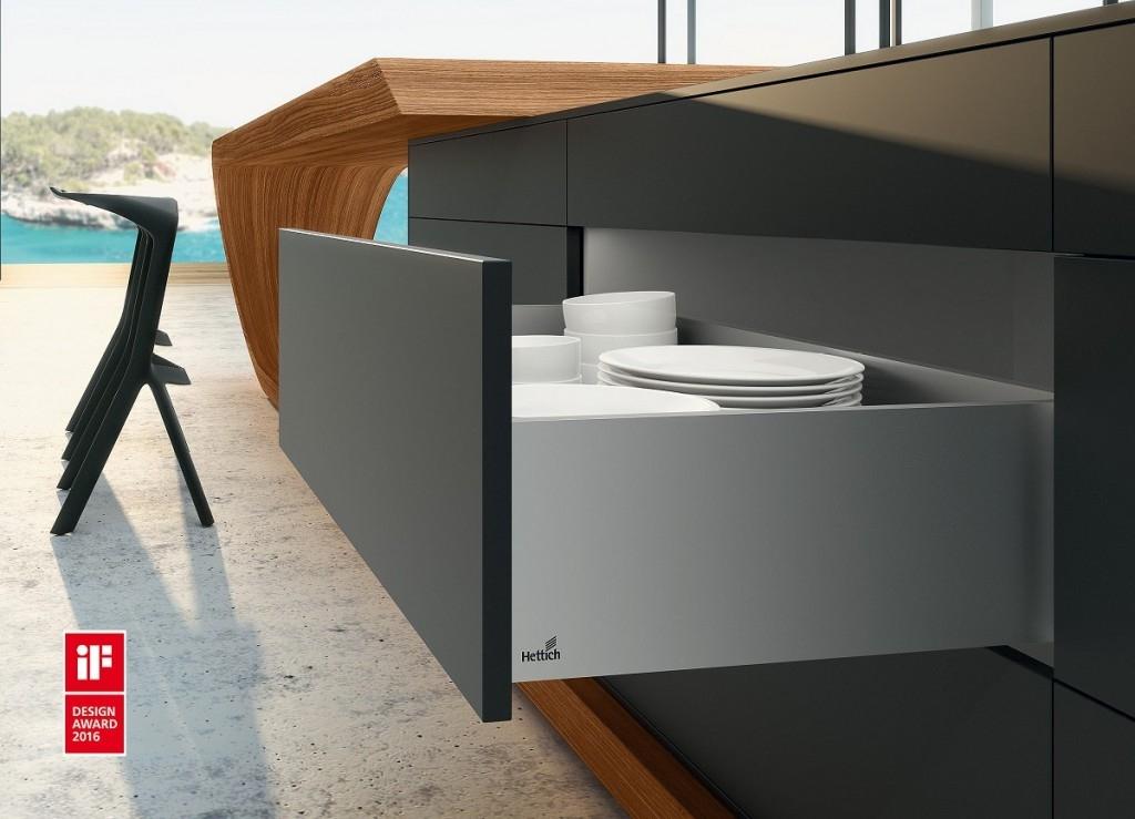 Zásuvkový systém AvanTech a závěs Sensys pro tenké dveře zaujaly porotu iF Product Design Award 2016