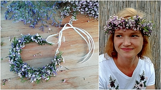 Květinový věneček do vlasů: Paráda z živých květin