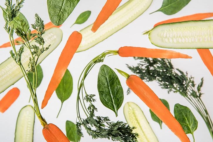 Slupky ze zeleniny