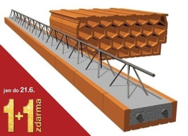 Cihelné výrobky systému Porotherm: akce 1+1 zdarma pro milovníky zdravých cihlových domů.
