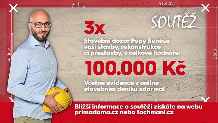 V naší soutěži můžete vyhrát 3x stavební dozor v celkové hodnotě 100.000 Kč (Zdroj: Prima DOMA)