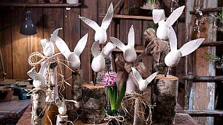 Jarní dekorace: Jak snadno arychle vyrobit zajíce