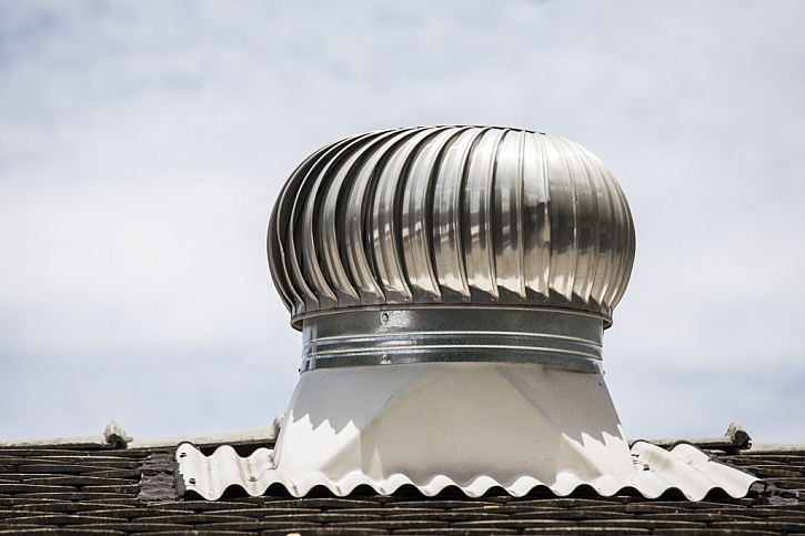 Větrací turbína zajistí odvod vlhkosti z domu