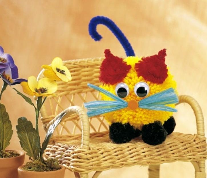 Vyrobte si zvířátko z bambule - Kočka Micka