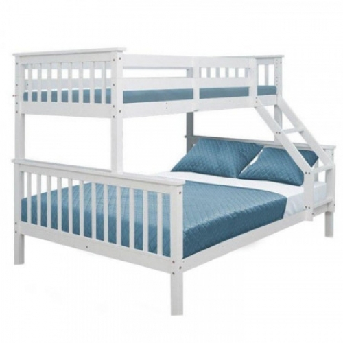 Patrová rozložitelná postel, bílá, BAGIRA, Tempo Kondela