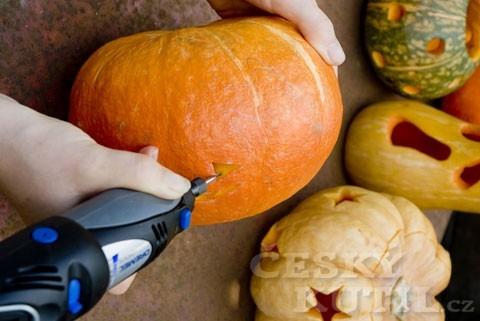 Vysokorychlostní frézou se můžete pustit i do výroby halloweenské dýně