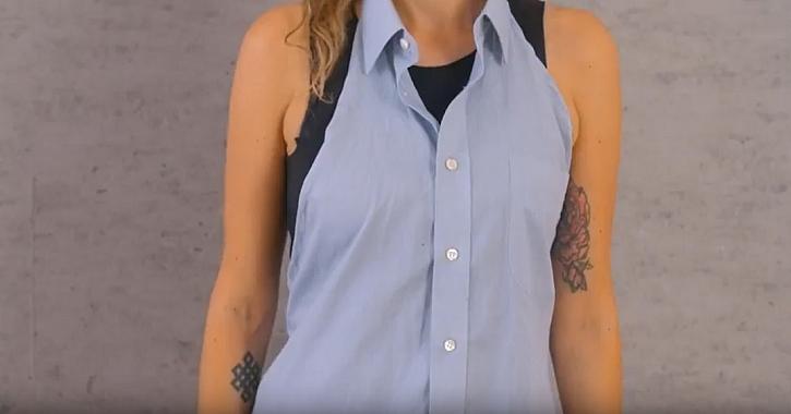 Zástěra ze staré pánské košile: Recyklace je prostě hit!