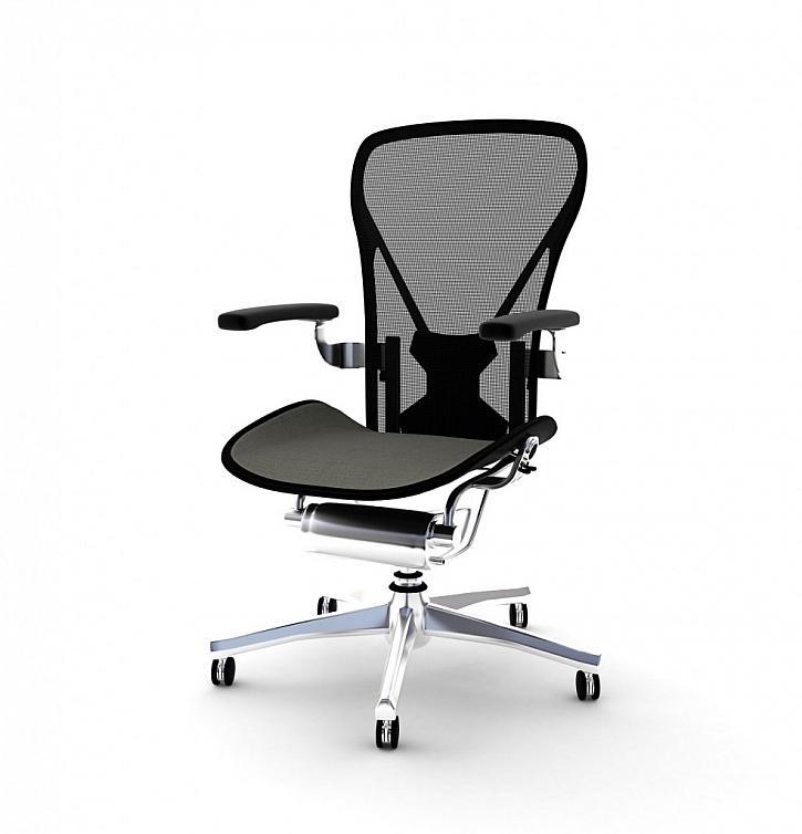 Židle ze síťoviny je prodyšná, což uvítáte zejména v létě