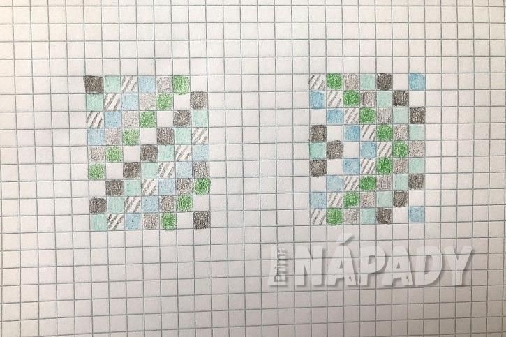 Rozložení čtverců si předem nakreslete