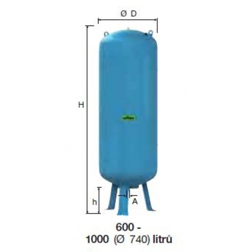 Refix expanzní nádoba DE/600/25 modrá