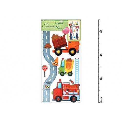 Anděl samolepící dekorace 10098 silnice s auty 70x33cm