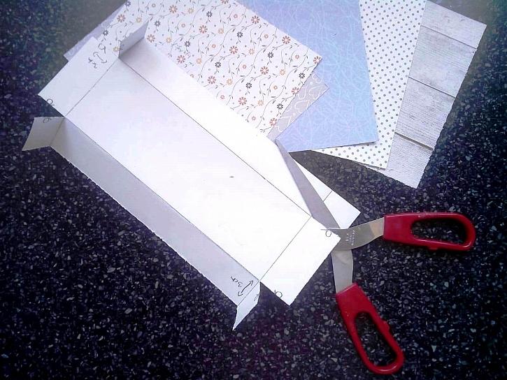 Nastříhávání krabiček