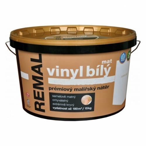 Remal Vinyl mat prémiová malířská barva, omyvatelná, bílá, 15 kg