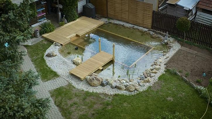 Jak si založit jezírko na zahradě - 4. díl - konečné úpravy a zhotovení