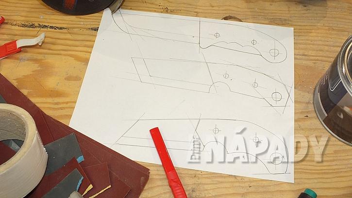 Výroba nože: připravíme návrh tvaru nože