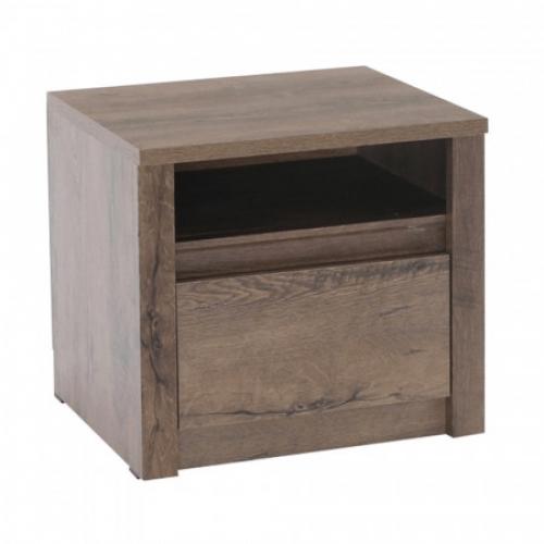Noční stolek, dub lefkas tmavý, MONTANA SN, Tempo Kondela