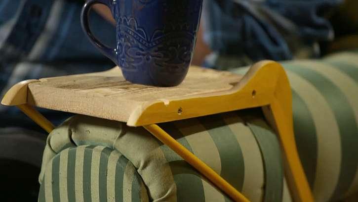 Jak si vyrobit odkládací stoleček na gauč