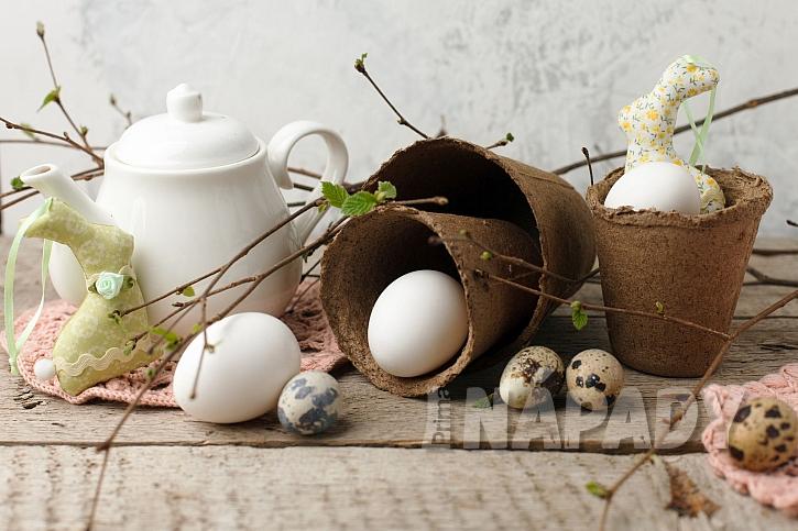 přírodní velikonoční dekorace
