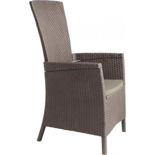 ALLIBERT VERMONT zahradní židle polohovací, 64 x 68 x 107cm, Cappuccino 17201675