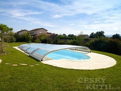 Supernízké zastřešení bazénu