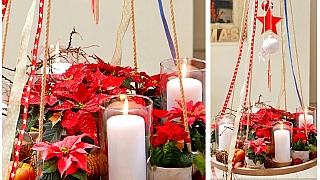 Adventní věnec z vánočních hvězd: Vejde se všude a nezaclání