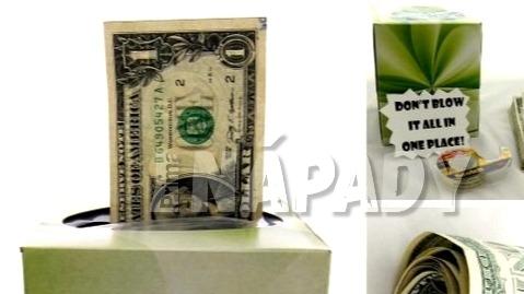 Peníze místo kapesníčků