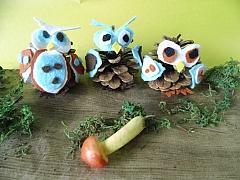 Výroba pro děti z podzimních plodů