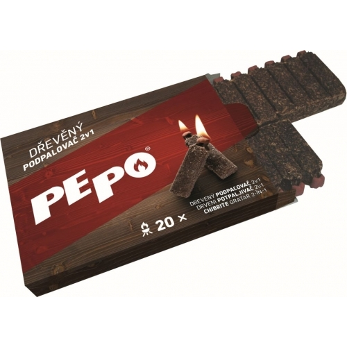PE-PO dřevěný podpalovač 2v1