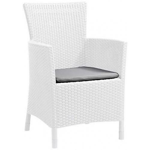 ALLIBERT IOWA (MONTANA) zahradní židle, 62 x 60 x 89cm, bílá