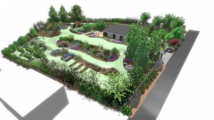 Návrh vizualizace zahrady 1