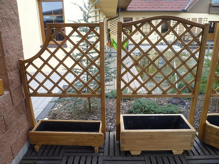 Pestré využití dřevěných mříží