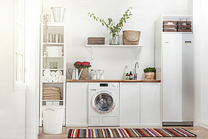 Tepelné čerpadlo švédské značky NIBE se hodí do interiéru každé domácnosti.