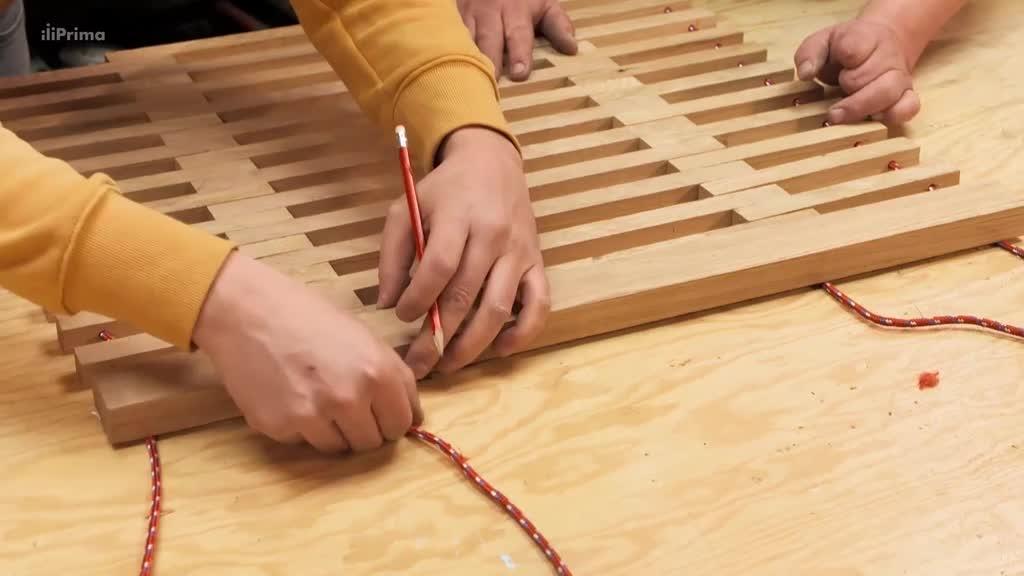 Dřevěná houpací síť